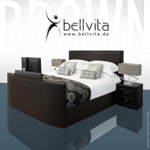 ORIGINAL bellvita LUXUS Wasserbett Mesamoll II mit ECHTLEDER-Bettrahmen und versenkbarem Flatscreen TV inkl. Montage (chocolate dunkelbraun, 200cm x 220cm)
