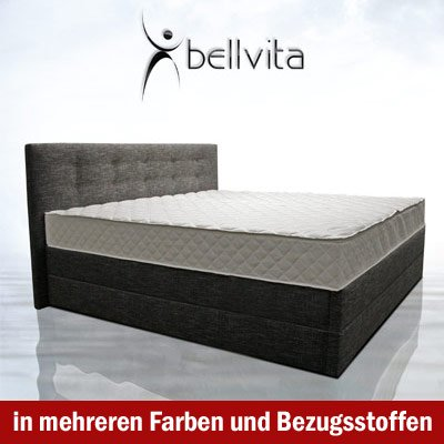 bellvita Mesamoll II Wasserbett in BOXSPRING-Optik mit Kopfteil inkl. MONTAGE, 180 cm x 220 cm