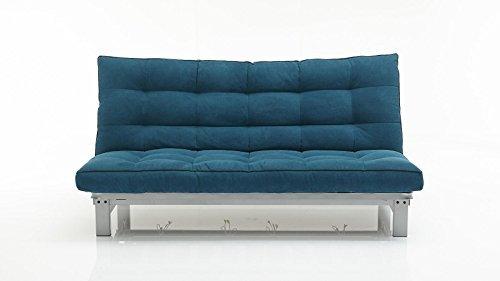 Schlafsofa petrol Stoff Couch Liege Bett günstig