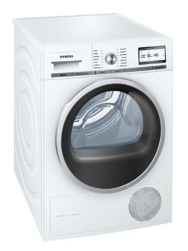 Siemens iQ800 WT47Y701 iSensoric Premium-Wärmepumpentrockner/A++/8 kg/Weiß/Selbstreinigender Kondensator/SoftDry-Trommelsystem/TFT-Display