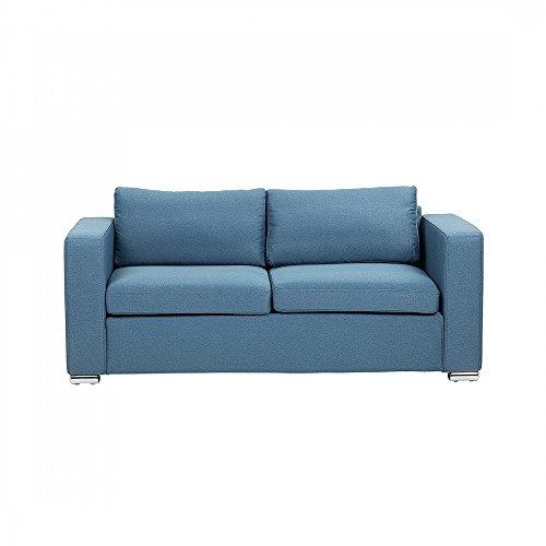 Sofa Blau - Couch - 3er Sofa - Dreisitzer - Stoffsofa - HELSINKI