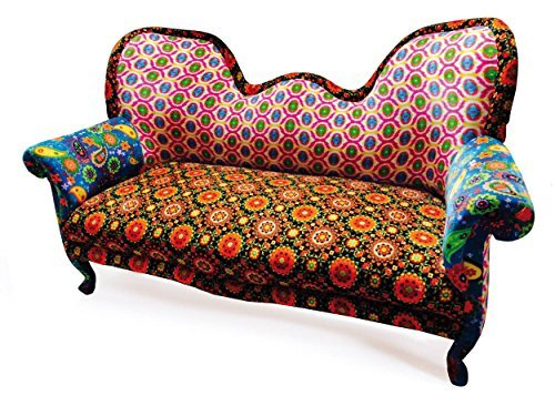 'Links 99805060Puna (Anden) Sofa Paisley Baumwolle/Massivholz Mehrfarbig 179x 89x 109cm