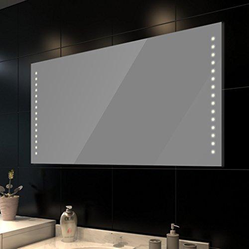 vidaXL Badspiegel Lichtspiegel LED Spiegel beleuchteter Wandspiegel 100x60 cm