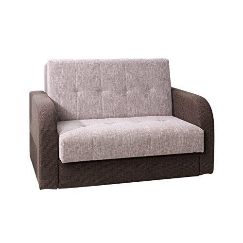 Schlafsofa American Quadro II, Couch mit Bettfunktion, Polstersofa mit Bettkasten und Schlaffunktion, Bettsofa,