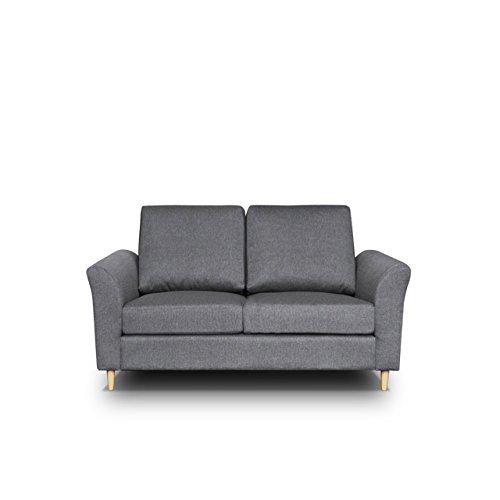 Sofa Werona II Couch Sofagarnituren Polstersofa Couchgarnitur, Komfortsofa, Wohnzimmer, Stoffsofa, Microfaser, grau