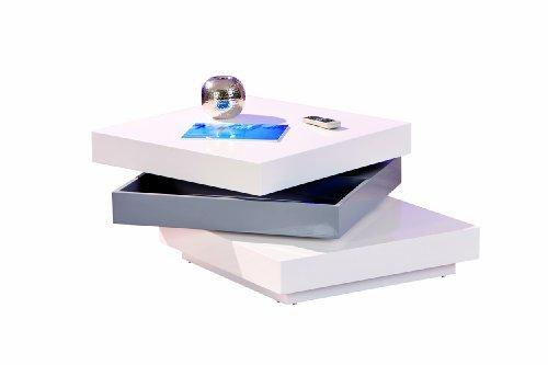 Links 20800925 Couchtisch weiß hochglanz Wohnzimmertisch Wohnzimmer Tisch Design modern 70x70