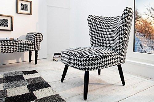 DuNord Design Sessel MARTA schwarz weiss Pepita