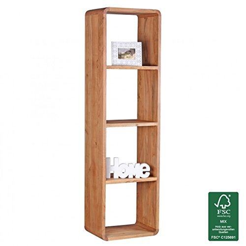 Wohnling Massivholz Bücherregal 50 x 35 x 180 cm Standregal