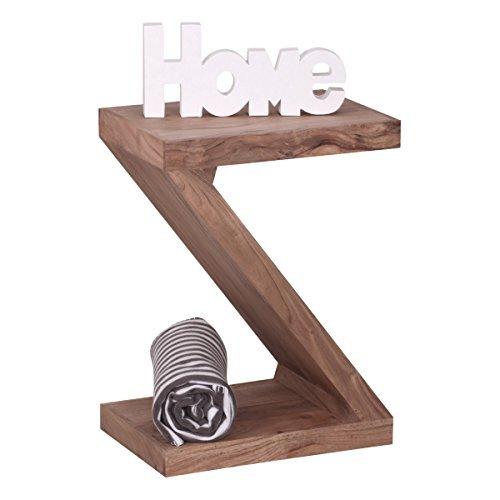 Wohnling Massivholz Beistelltisch Z Cube 44 x 30 x 59 cm mit Ablage