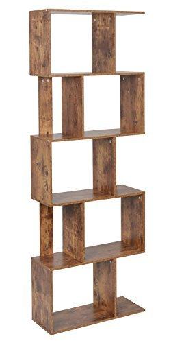 ts-ideen Design Regal Hochregal 10 Fächer Standregal Bücherregal CD-Regal Aufbewahrung Holz antik 170 x 60 cm