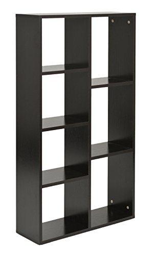 ts-ideen Design Regal Hochregal Standregal Aufbewahrung Bücherregal CD-Regal Ablage Holz schwarz 110 x 60 cm