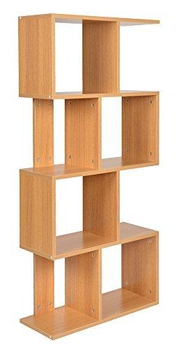 ts-ideen Standregal Bücherregal CD-Regal Aufbewahrung Holz Natur Modern Design 130 x 60 cm