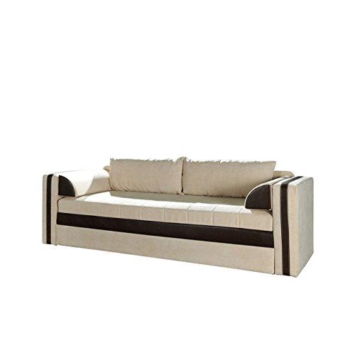 Mirjan24  Schlafsofa Euforia, Couch mit Bettfunktion, Polstersofa mit Bettkasten und Schlaffunktion, Bettsofa,