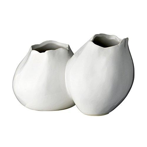 Bloomingville Vase Duo, weiß, 21x12xH13cm