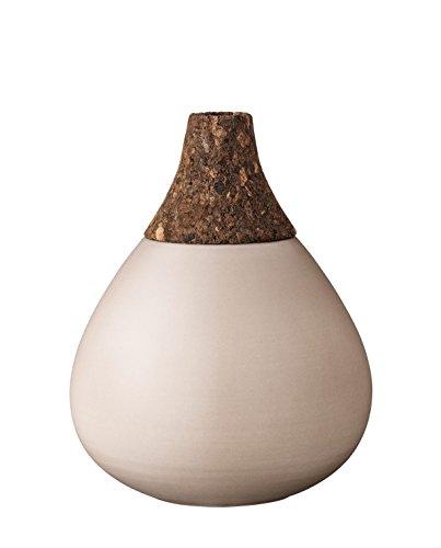 Bloomingville Vase (H: 22,5 cm): Kork/Keramik (Nougat Beige/Braun)
