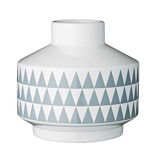 Bloomingville Vase Triangle, weiß/grau (Ø 20 x 19cm)