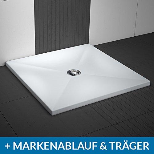 AQUABAD® Duschwanne Comfort Lux Flat 90x90cm Quadrat