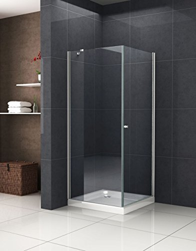 Duschkabine DETO-FIX 80 x 80 x 190 cm ohne Duschtasse