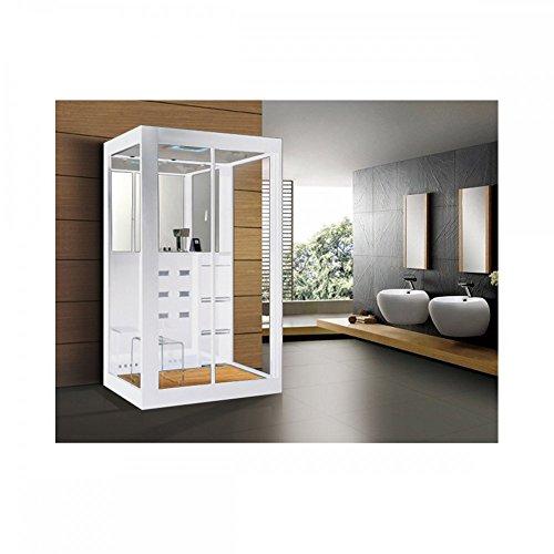 Home Deluxe Duschtempel | White Luxory XL | inkl. Dampfsauna und komplettem Zubehör