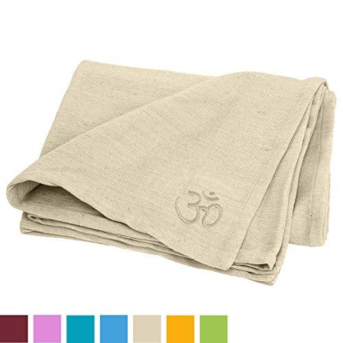Yogadecke SHAVASANA, 100% Baumwolle, grob gewebt & robust, Tagesdecke
