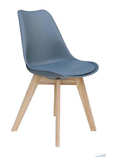 """Designer Stuhl """"PARIS"""" Stuhl Esszimmerstuhl Küchenstuhl Bürostuhl grau 221068"""