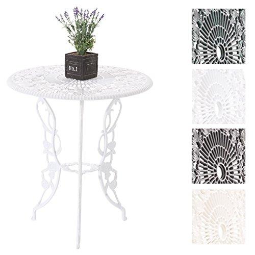 CLP Alu-Guss Tisch GANESHA, Gartentisch rund ca. Ø 66 cm, Höhe 67 cm, Design nostalgisch antik