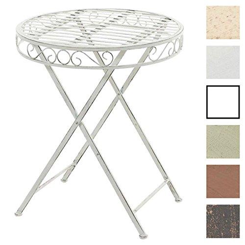 CLP Runder Eisentisch SULU in nostalgischem Design | Robuster Gartentisch mit kunstvollen Verzierungen | In verschiedenen Farben erhältlich