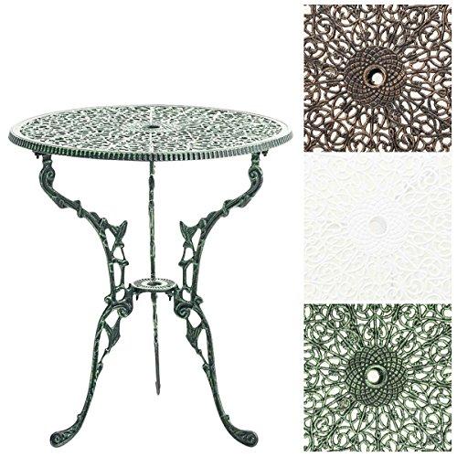 CLP Tisch DIVARI, Gartentisch rund Durchmesser Ø 60 cm, Höhe 66 cm, handgefertigt, Balkontisch, robust und witterungsbeständig