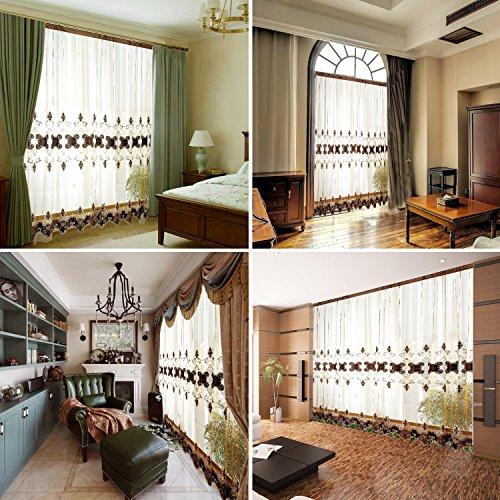 Gardine, 1 Pcs elegante Vorhänge Gardine für Wohnzimmer, Schlafzimmer, Arbeitszimmer-1m (W) x 2.8m (H) (100x272cm)