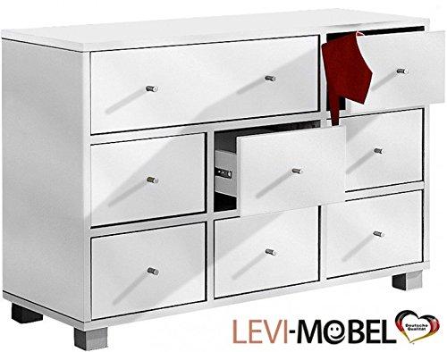 Levi-Moebel SIDEBOARD KOMMODE GARDEROBE FLUR SCHLAFZIMMER WEIß GLANZ NEU 552183