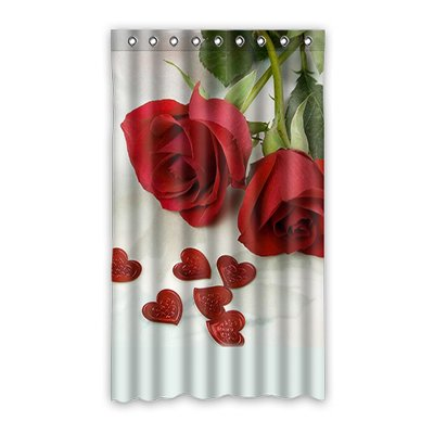 "Dalliy Love rose Fenstervorhang Vorhang Window Curtain Polyester 50""x84"" about 127cm x 213cm(One piece)"