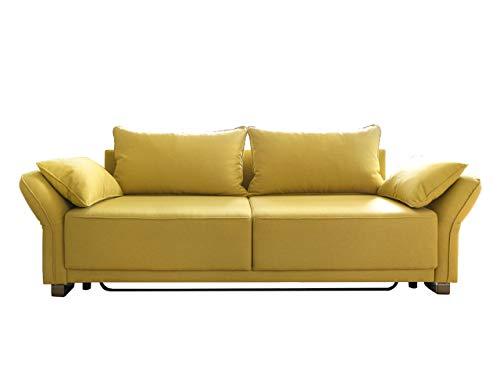 Mirjan24  Schlafsofa Loretto mit Bettkasten, Couch mit Schlaffunktion, 3 Sitzer Sofa, Farbauswahl, Schlafsofa Bettsofa Polstersofa Couchgarnitur (Chester 6)
