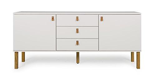 Tenzo Vox Sideboard 2 Türen und 3 Schubladen, MDF, Warm Grau/Eiche, One Size