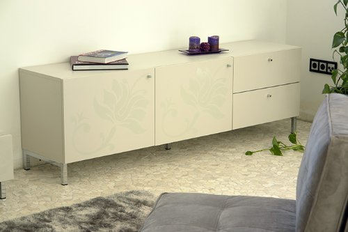 tenzo 9002134019 Sideboard, MDF, Sand, 180 x 57 x 43,5 cm