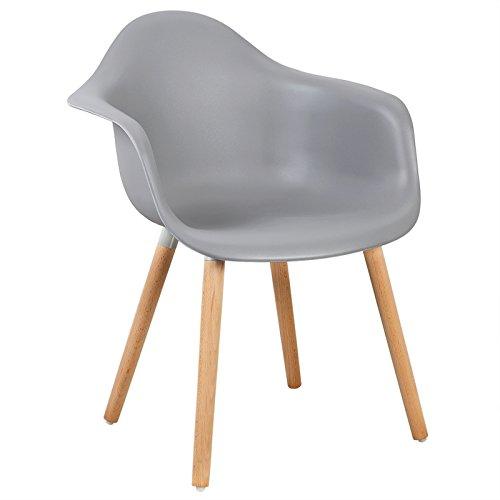 WOLTU #1099 Esszimmerstuhl 1 Stück Esszimmerstuhl mit Lehne Design Stuhl Küchenstuhl Holz