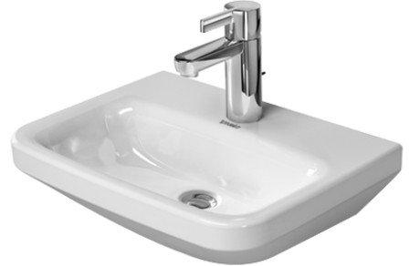 Duravit DuraStyle Handwaschbecken ohne Überlauf, 450 mm 450 x 335mm, weiß mit Wondergliss 0708450000, 7084500001