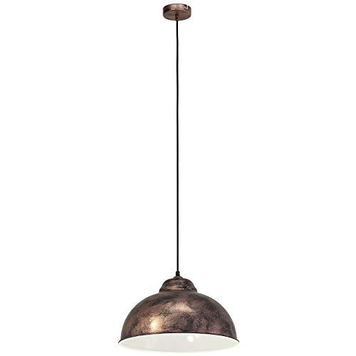EGLO Hängeleuchte Truro Stahl Kupfer-Antik Durchmesser 37cm E27 Vintage kupferfarben, 37 x 37 x 110 cm