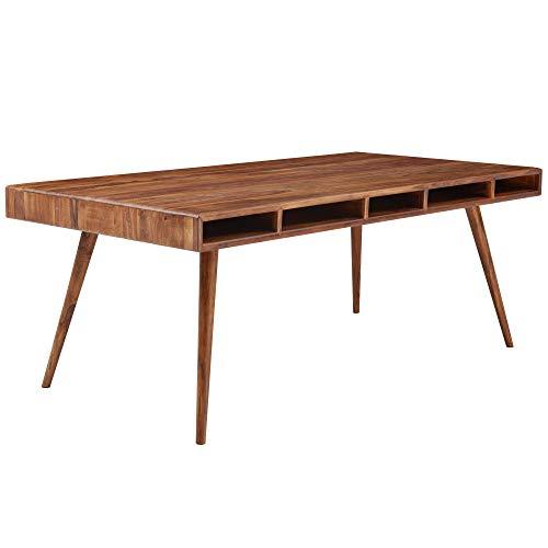FineBuy Esszimmertisch 200x100x77 cm Sheesham Massivholz Tisch   Designer Küchentisch Holz   Massivher Holztisch Rustikal   Speisetisch Massives Echt-Holz Modern