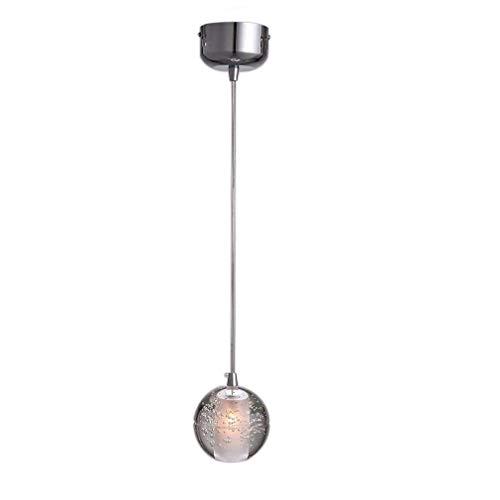 LED Modern K9 Kristall Kugel Pendelleuchte Kreative Deckenleuchte Lüster hochwertigem Innenbeleuchtung Design Dekoration Hängelampe Φ10cm H100cm( Höhenverstellbar)1*G4 (Warmweiß 3000K) (A)