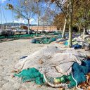 Fischernetze Hafen Palma de Mallorca