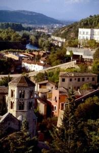 Spanien Costa Brava Girona Altstadt Stadtmauer
