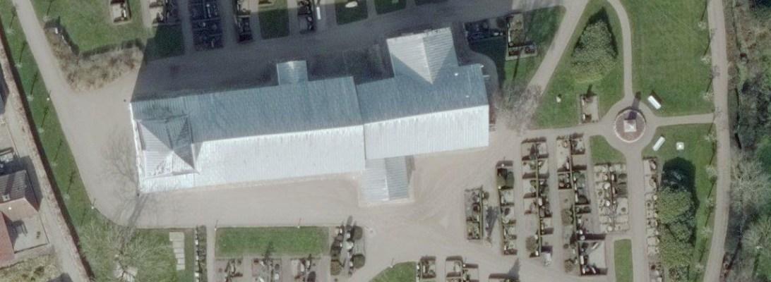 Møgeltønder kirke set ovenfra
