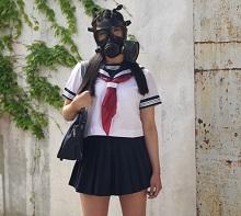 ガスマスク陵辱女子校生
