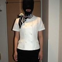シミと匂いの付いた使用済下着を被って寝取られるホテル客室係の変態メス豚人妻 恵美