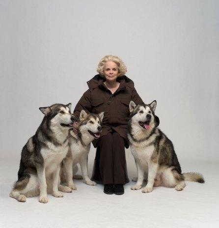Annett Wolf med tre mallamutter, Canada Goose reklame