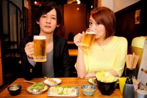 ビールと2人