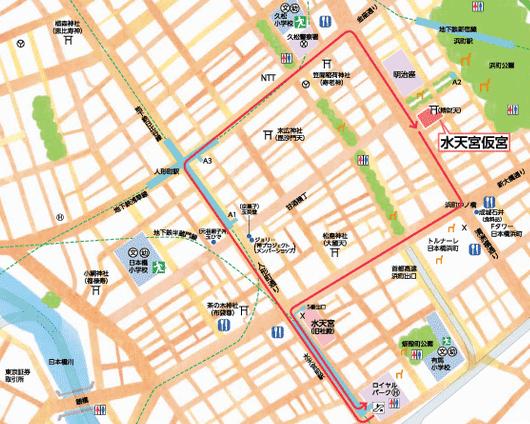 水天宮の地図