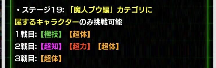スーパーバトルロード・『魔人ブウ編』ステージ攻略ページ