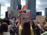 【騒然】6月7日の自民党全国一斉演説、聴衆からは「違憲」「戦争立法反対」の声が上がる。