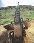 【リアル進撃の巨人?】イースター島のモアイ像の頭の下(土の中)にはかなり大きな体が合った!手や足までも!!